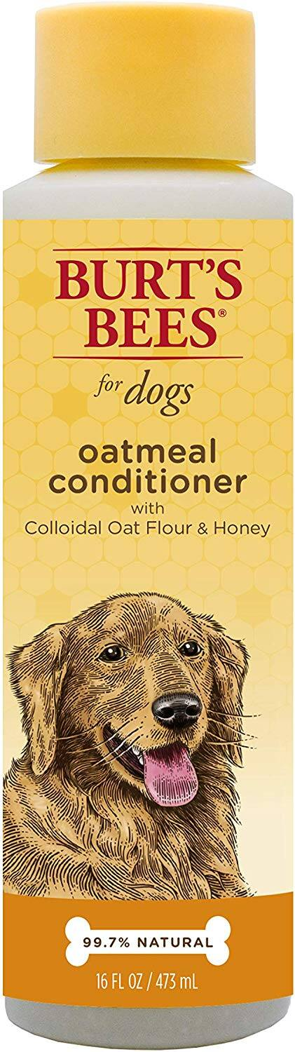6-Pack 16oz. Bottles - Burt's Bees for Dogs Natural Oatmeal Conditioner with Colloidal Oat Flour and Honey $13.62 - Amazon