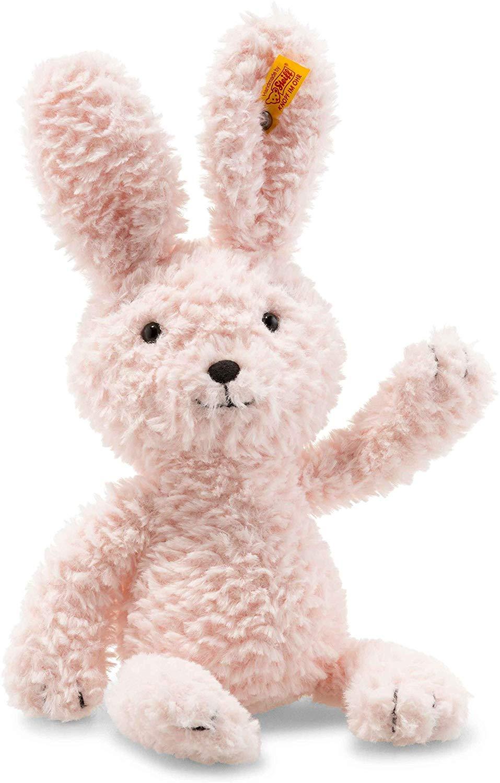 """12"""" Steiff Soft Cuddly Friends (Candy Rabbit) Pink $18.81 - Amazon"""