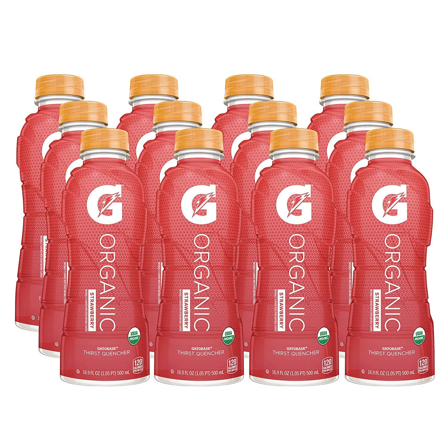 12-Ct. 16.9oz. G Organic (Strawberry) Gatorade Sports Drink $13.67 5% or $12.23 15% w/s&s