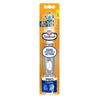 Arm & Hammer Spinbrush Pro Clean Soft Powered Toothbrush $3.49 - Amazon ($1 Digital Credit)