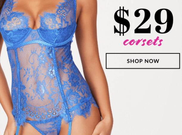 Frederick's of Hollywood - $29 Corsets, $19 Bras, $3 Panties + 40% Off Sitewide + 60% Off Clearance - Free Ship at $30