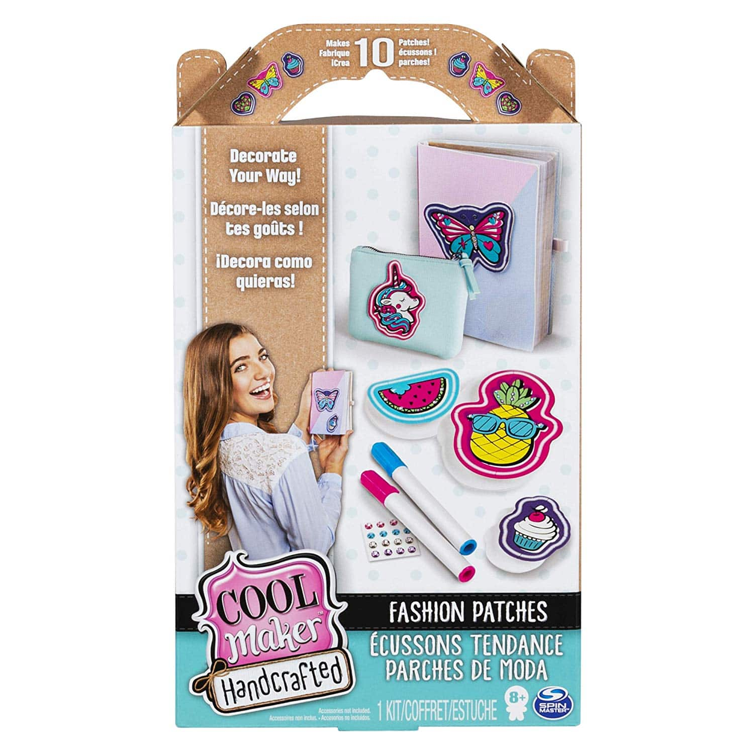 10-Ct. (1 Pkg.) Cool Maker, Handcrafted Fashion Patches Activity Kit $2.81 - Amazon
