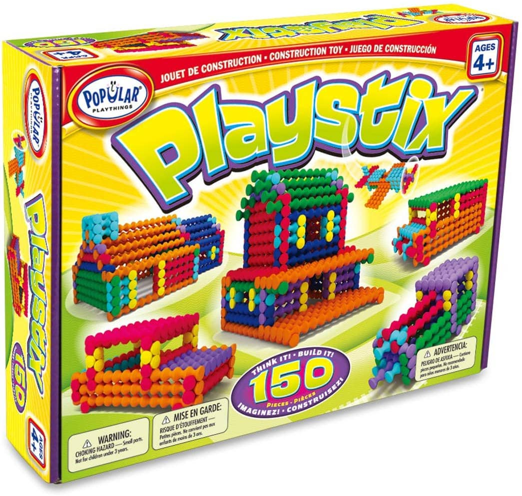150-Piece Popular Playthings Playstix Building Set $12.39 - Amazon