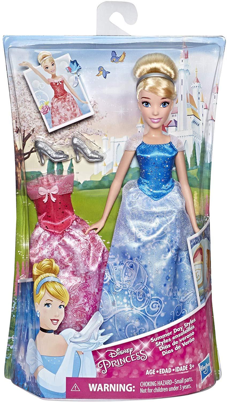 Disney Princess Cinderella Doll w/ 2 Outfits (Summer Day Styles) $6.57 - Amazon