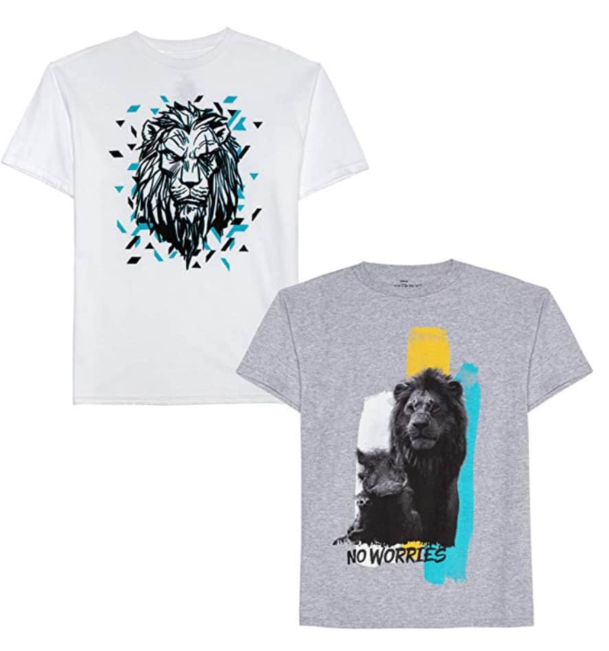 2-Pack Disney Boys' The Lion King Movie Graphic T-Shirts SM - $5.05 | XL $5.49 - Amazon