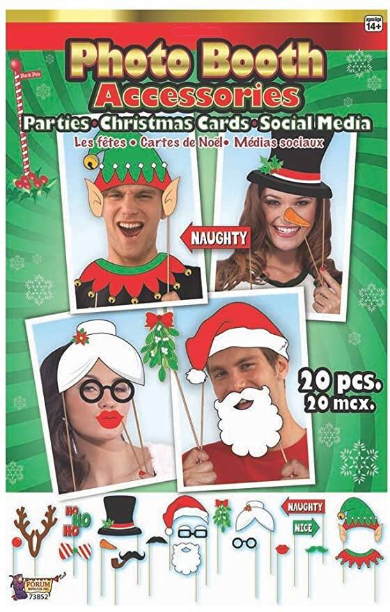 20-Pce. Christmas Photo Booth Accessories $2.28 - Amazon