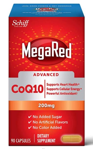 90 ct. Megared CoQ10 Advanced 200mg Capsules $27.16 - Amazon