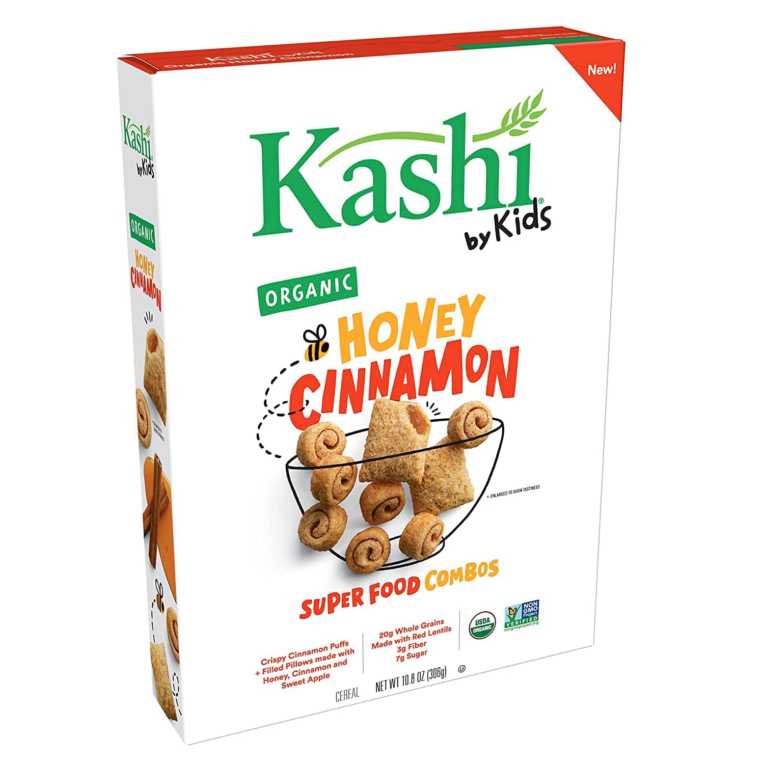 10-Boxes 10.8 Oz ea. Kashi by Kids Honey Cinnamon Cereal - Organic $18  w/s&s