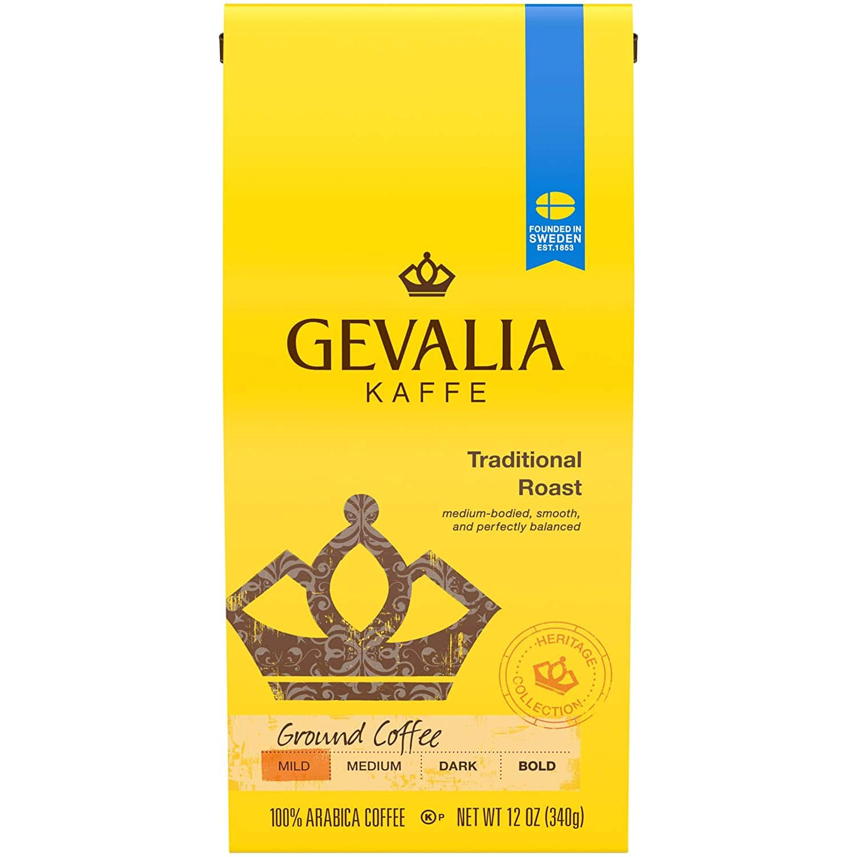 6-Ct. 12oz. Gevalia Traditional Mild Roast Ground Coffee $23.95 5% AC w/s&s