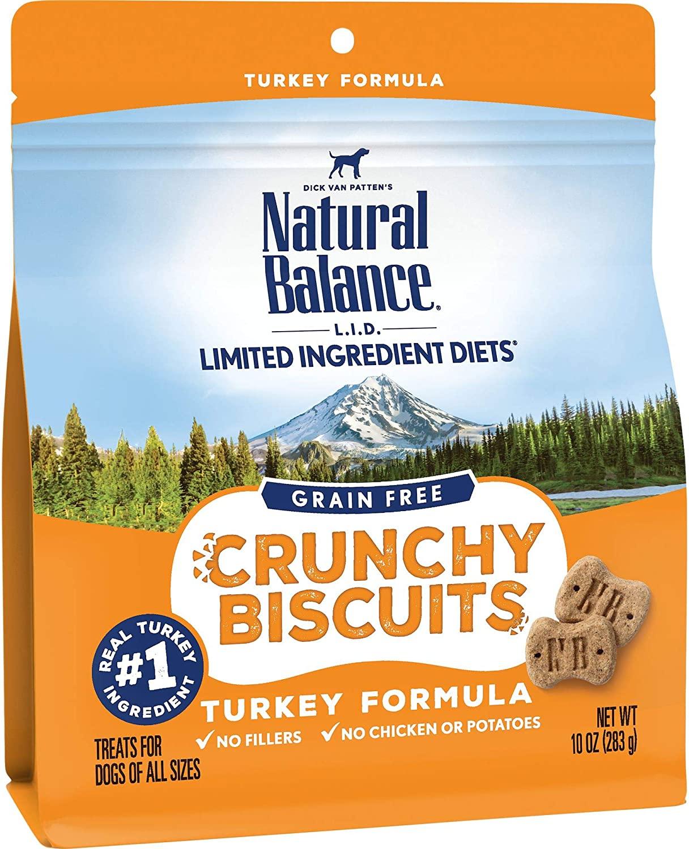 10-Oz Natural Balance Limited Ingredient Diet Crunchy Dog Treats (Turkey) $4.58 & More - Amazon