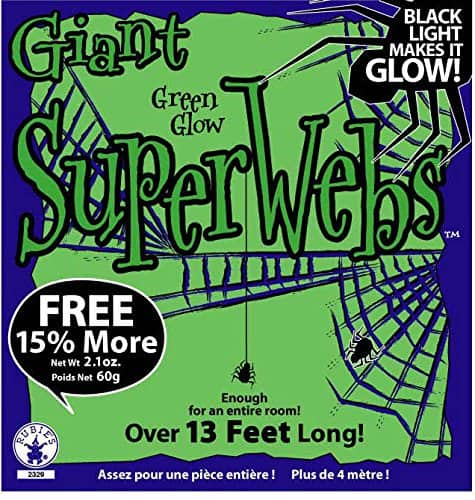 Large Green 13ft. Spider Web with Spiders $3.31 - Amazon