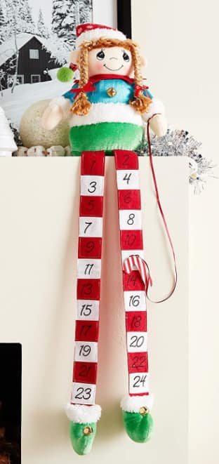 Precious Moments Elf Fabric and Metal Christmas Countdown Calendar Shelf Sitter $6.73 - Amazon