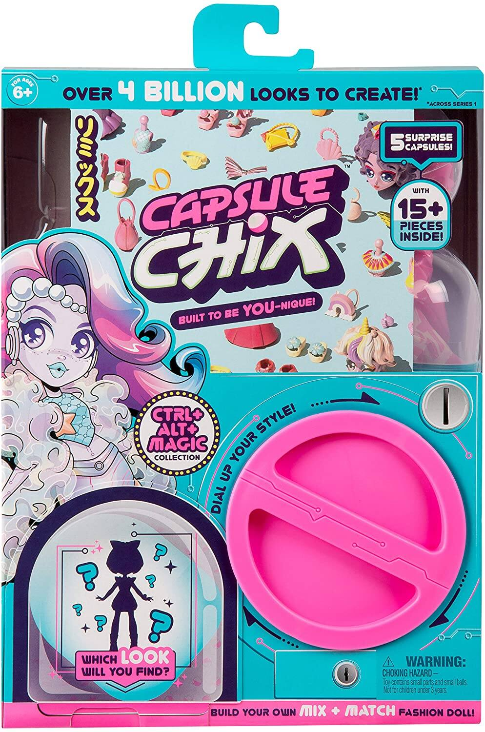 "Capsule Chix Giga Glam Collection (Giga Glam) 4.5"" Doll & Accessories $3.94 & More - Amazon"