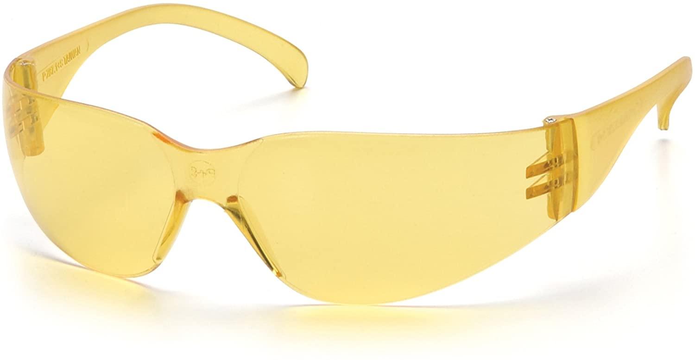 Pyramex Intruder Safety Eyewear: Infinity Amber Frame $1.04 - Amazon
