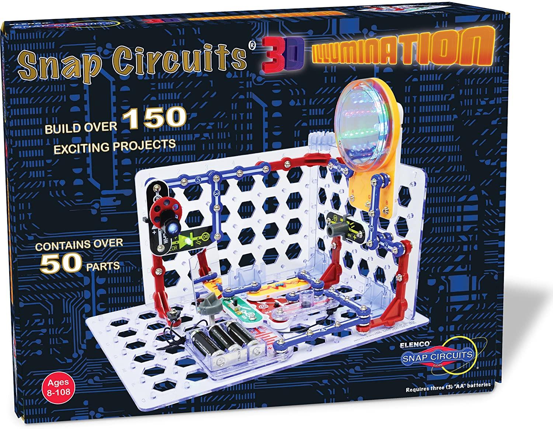 Snap Circuits Electronics Education Kits - 3D Illumination Kit $45.99 | Jr. Kit $20 Amazon / Walmart