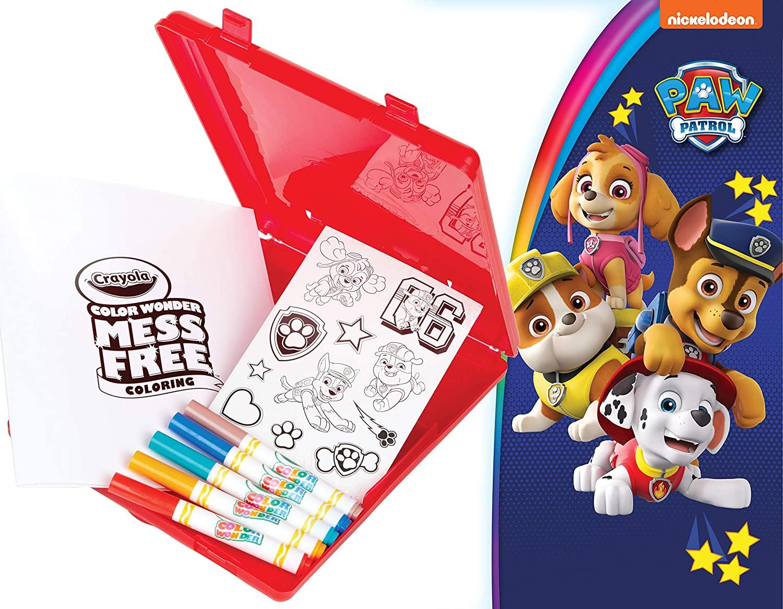 Crayola Color Wonder - Paw Patrol Coloring Book, Travel Kit $7.32 - Amazon