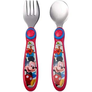 2-Pc The First Years Disney Kids' Stainless Steel Flatware (Mickey/Goofy | Buzz/Woody & More) $2.48 - Amazon / Walmart