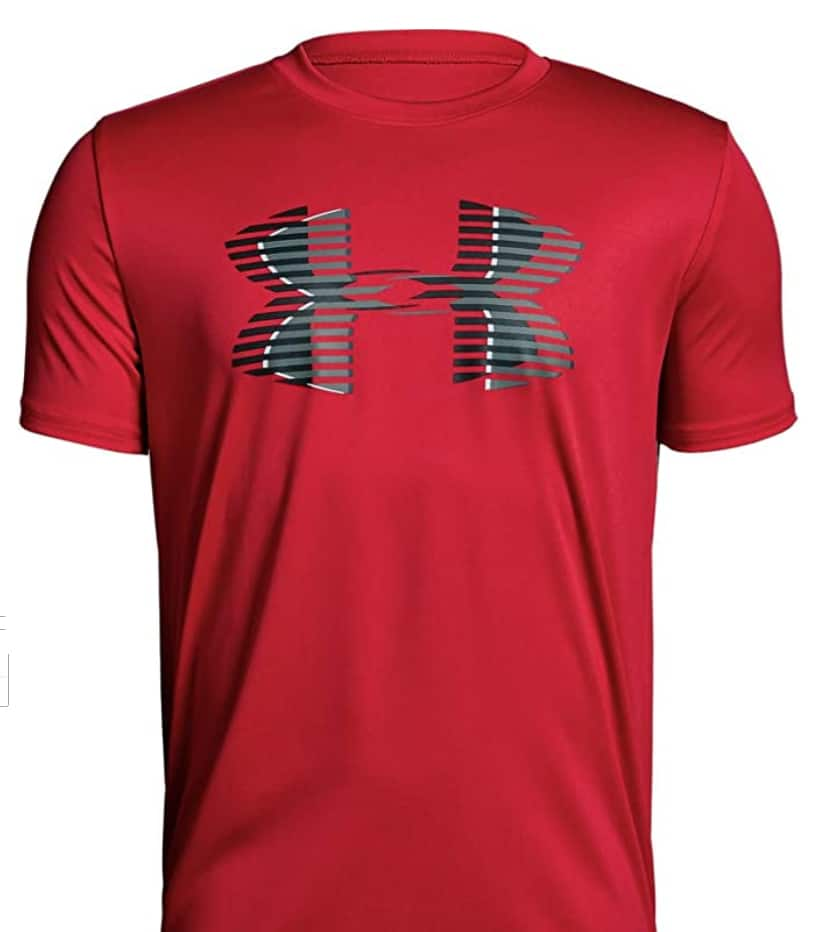 Under Armour Boys Tech Big Logo Solid T-shirt (Red S, M, L) $9.97 - Amazon