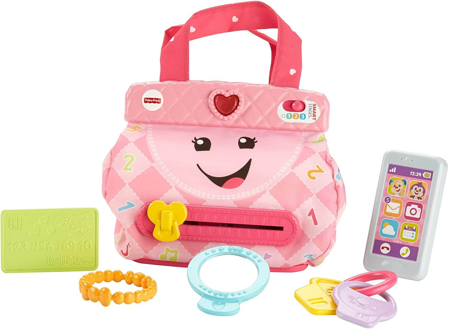 Fisher-Price Laugh & Learn My Smart Purse $12.79 AC - Amazon