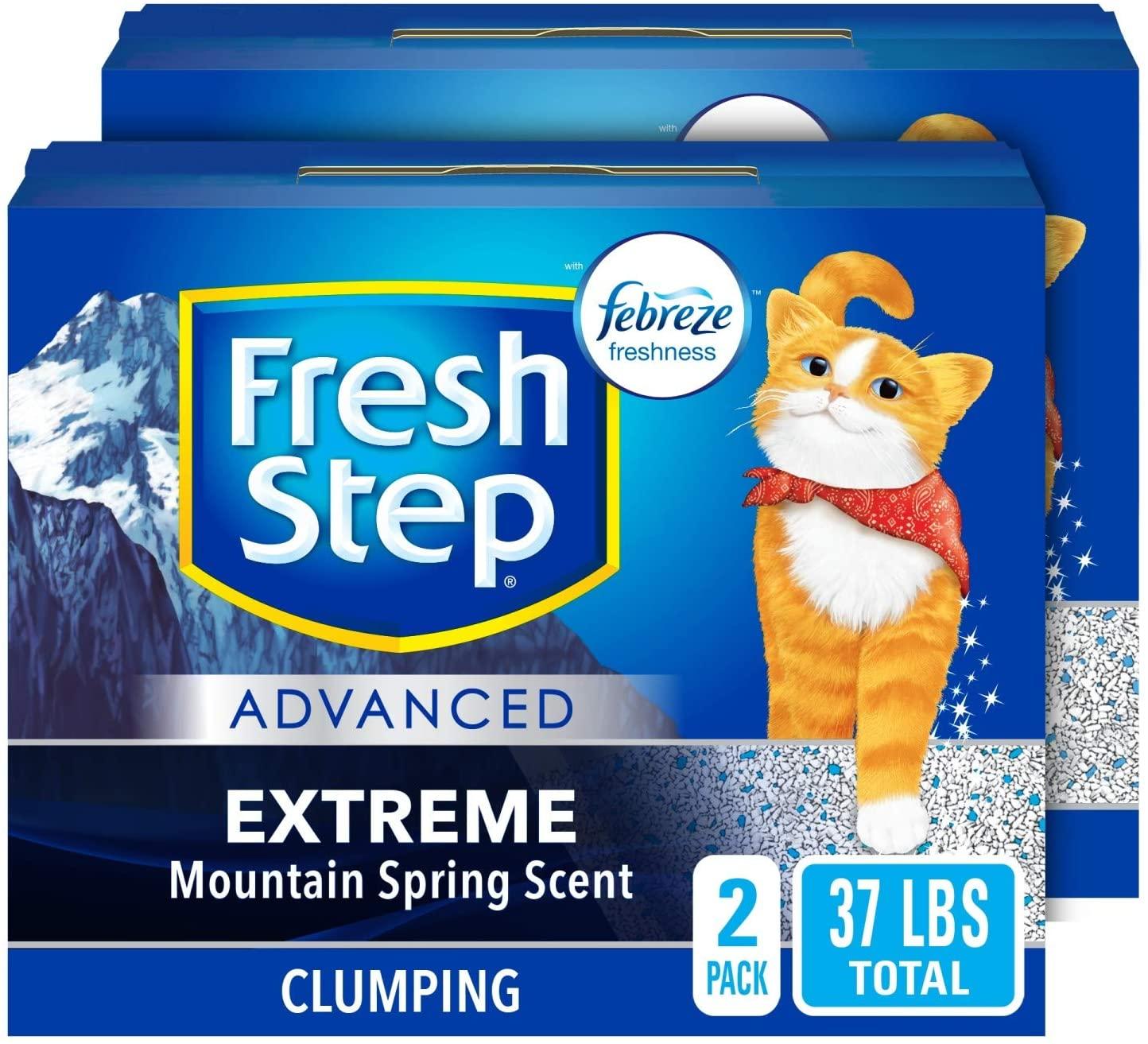 37 lb Fresh Step Advanced Clumping Cat Litter $16.79 AC w/s&s - Amazon