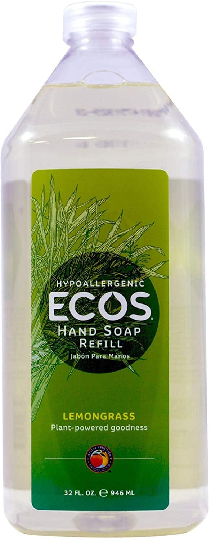 32 oz. ECOS Hypoallergenic Hand Soap (Lemongrass) $3.65 - Amazon