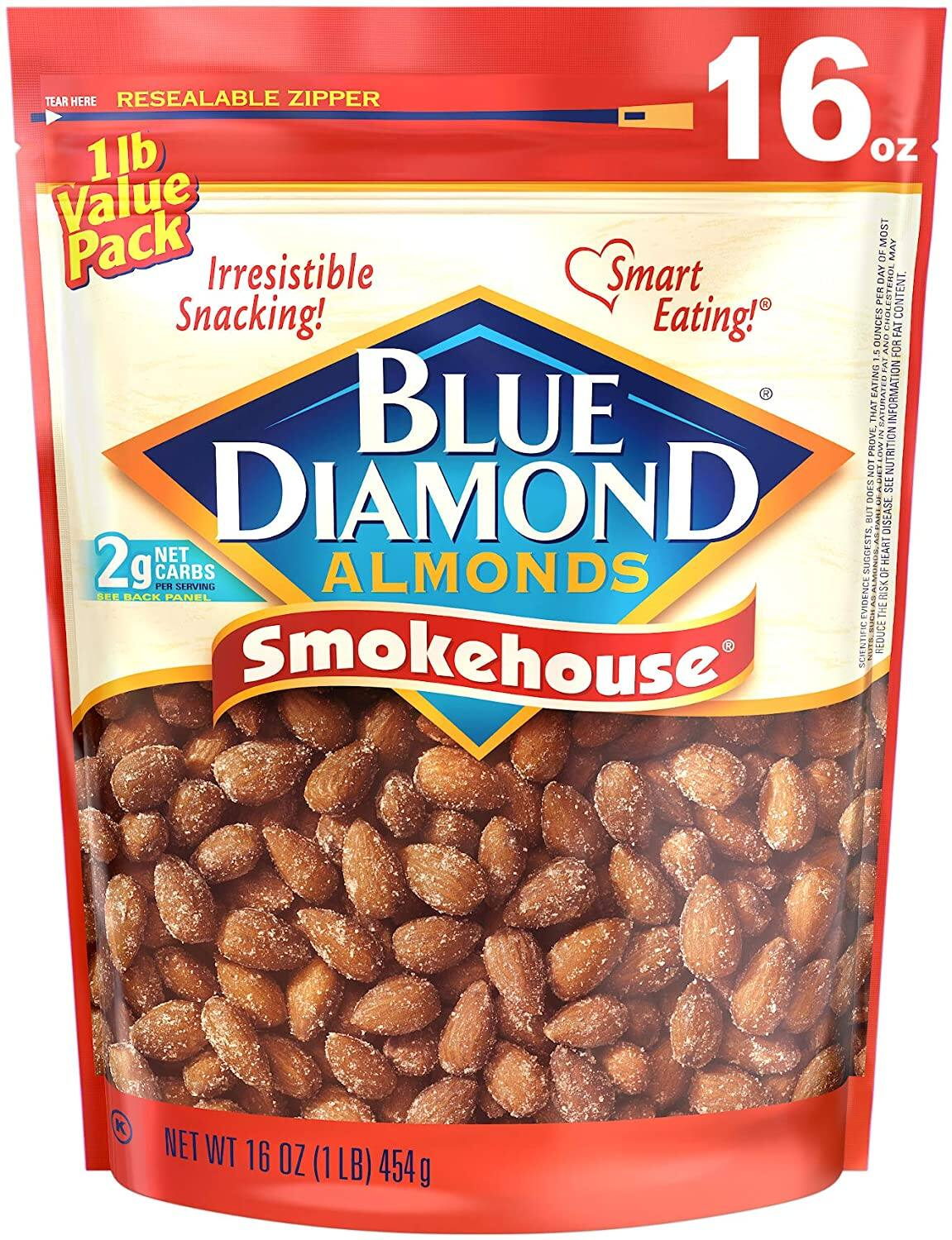 16 oz. Blue Diamond Gluten Free Almonds (Smokehouse) $5.32 - Amazon