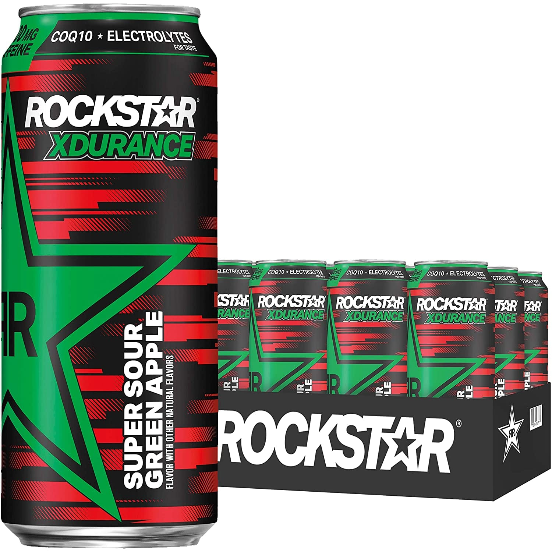 12-Pack 16oz. Rockstar XDurance Energy Drink (Super Sour Green Apple) $11.40 w/s&s