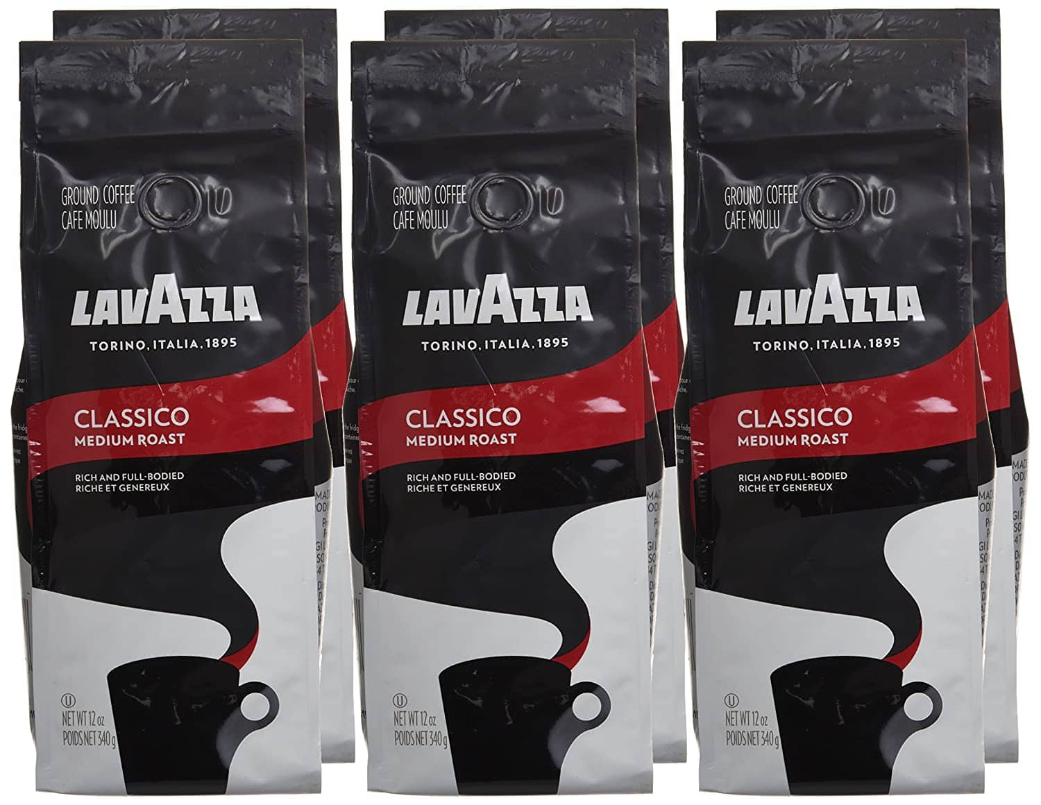 6-Count 12-Oz LavAzza Classico Medium Roast Ground Coffee Blend $28 & More w/s&s