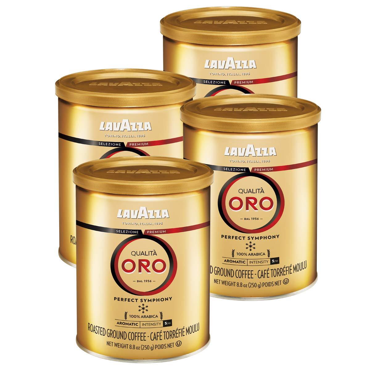 4-Cans 8.8oz. LavAzza Qualita Oro Ground Coffee Blend (Medium Roast) $18.18 w/s&s