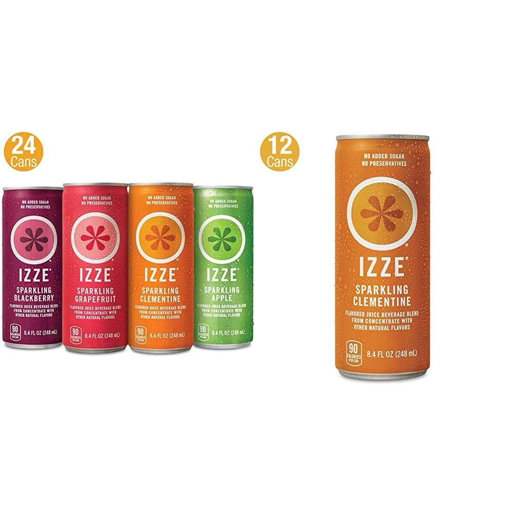 36-Ct 8.4-Oz IZZE Sparkling Juice (24-Ct Variety Pack + 12-Ct Clementine) $13.80