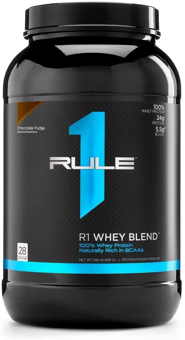 32-Oz Rule One Whey Blend Protein Powder (Chocolate Fudge) $9.98 - Amazon