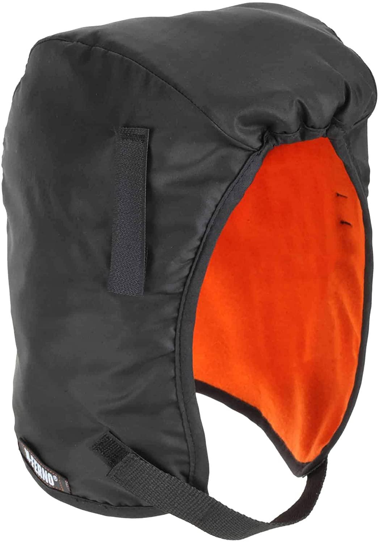 Winter Hard Hat Liner, Thermal Fleece Lining, Chin Length (Black) $2.66 - Amazon