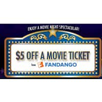 Fandango.com Deal: Free $5.00 off Fandango Movie Ticket
