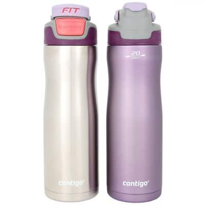 Sam's Club In Store - Contigo AUTOSEAL 20 oz. Stainless-Steel Water Bottle, 2 Pack (Assorted Colors) $14.91