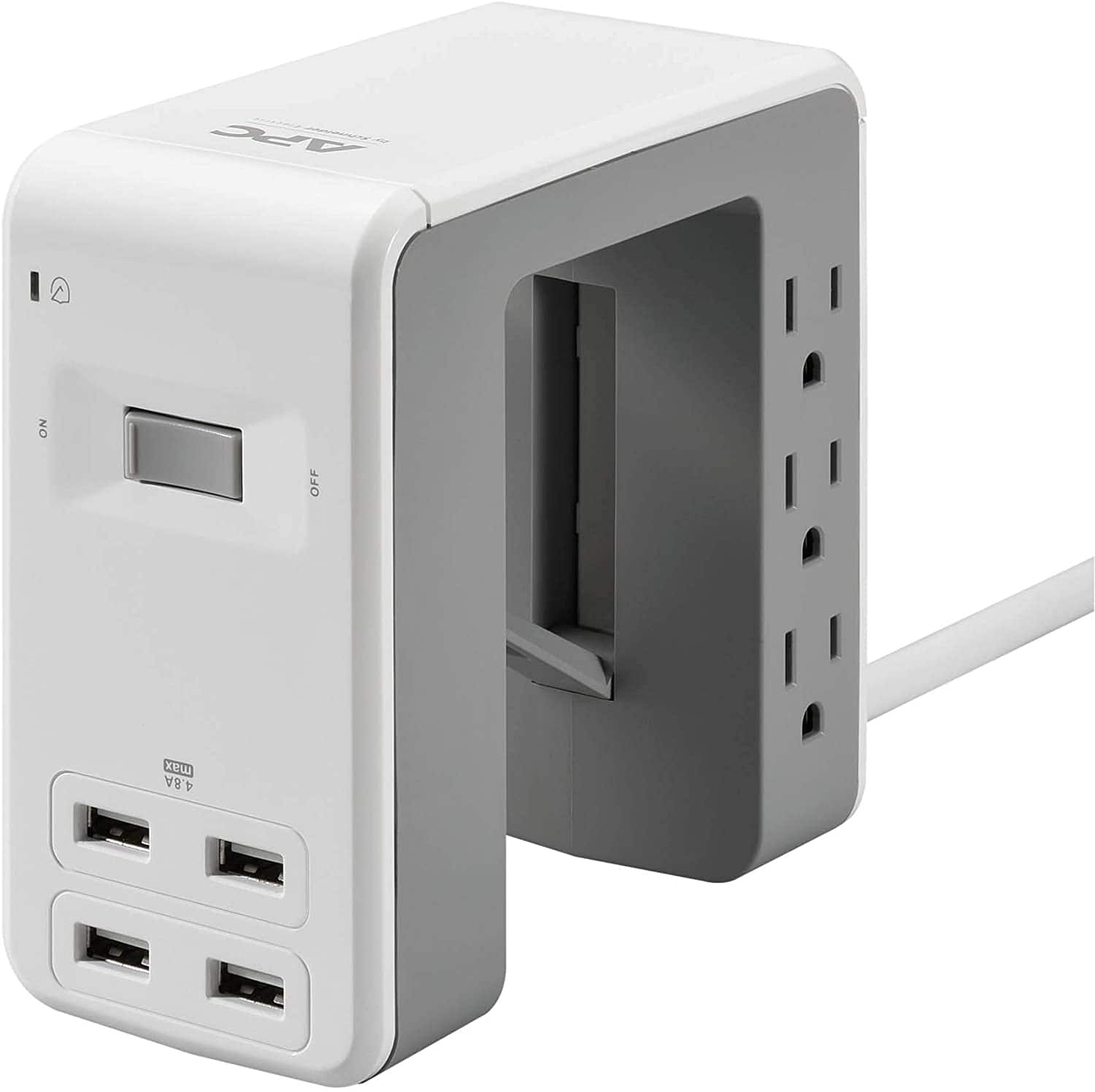 APC Desk Mount Power Station, 6 Outlet & 3 USB Charging Ports (Type C & Type A) $22.94