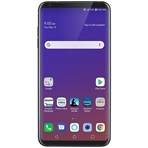 LG V35 ThinQ with Alexa Hands-Free – Prime Exclusive Phone – Unlocked – 64 GB – Aurora Black $399.99