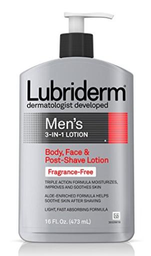LUBRIDERM Men's 3-in-1 fragrance free lotion $3.50 @Amazon FSS