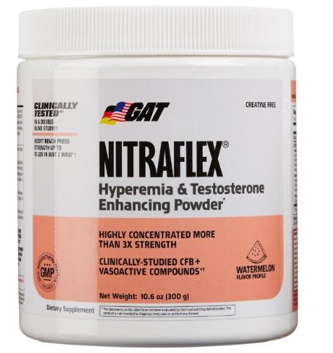 GAT's Nitraflex, Testosterone Enhancing Pre Workout, Watermelon, 300 Gram for $23.69