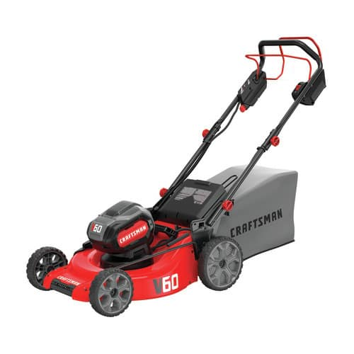 "*BACK IN STOCK FOR SOME LOWES LOCATIONS* Craftsman V60 60-Volt Max Li Self-propelled 21"" Cordless Electric Lawn Mower $200 YMMV $199.6"