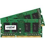 Mac/Macbook Pro RAM Memory: Crucial 16GB Kit (8GBx2) DDR3/DDR3L-1600 MHz (PC3-12800) - $75 Amazon FS Prime