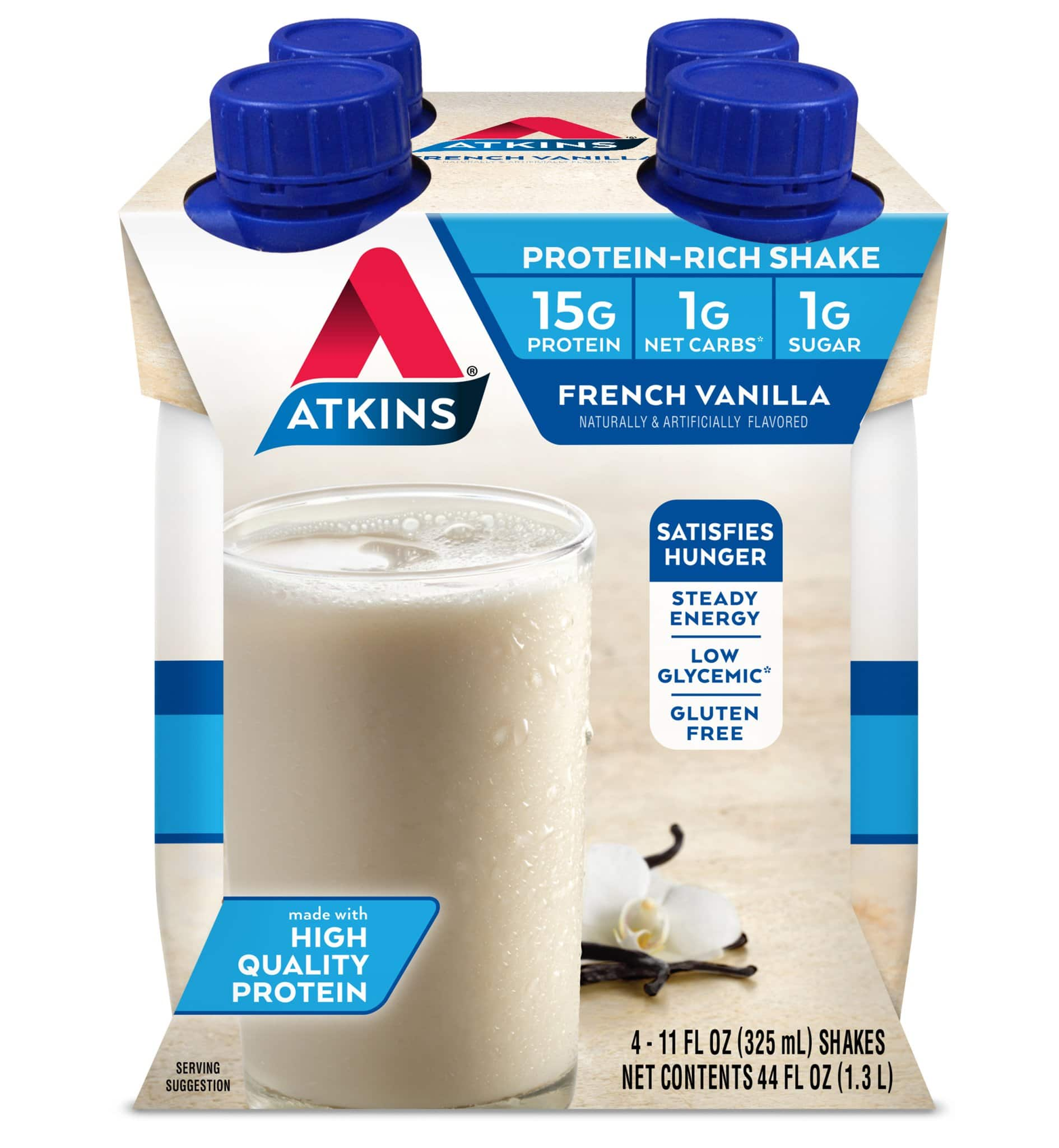 Atkins Shakes, Snack/Meal Bars, 20%-30% off AC + 5%-15% Amazon S&S (limited flavors)