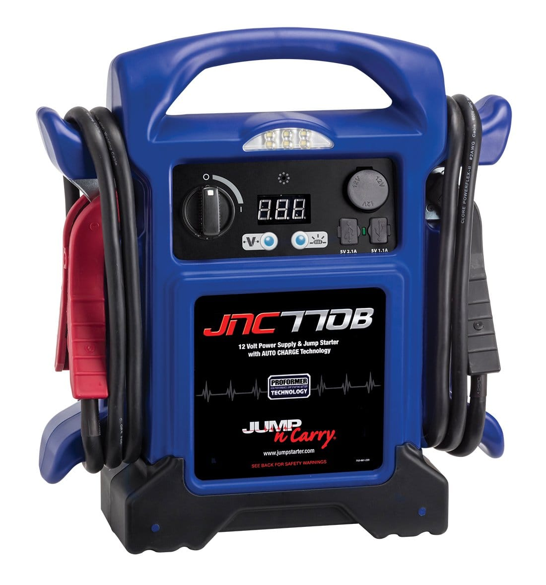 Clore Automotive Jump-N-Carry JNC770B 1700 Peak Amp Premium 12 Volt Jump Starter - Blue w/Cover $103.99 @ Amazon