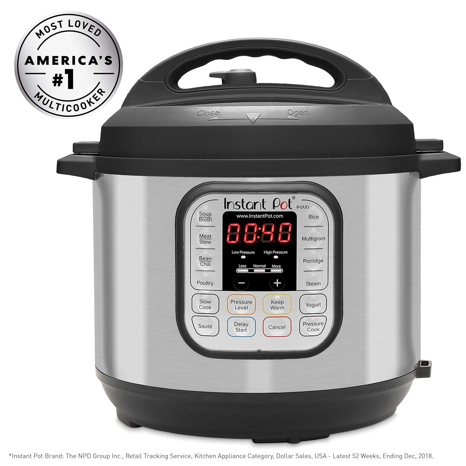 Instant Pot Duo 80 7-in-1 Electric Pressure Cooker 8 QT - $65 Amazon Lightning Deal