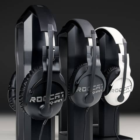 ROCCAT Khan Pro Gaming Headset with microphone. Black, Grey, White - $19.99