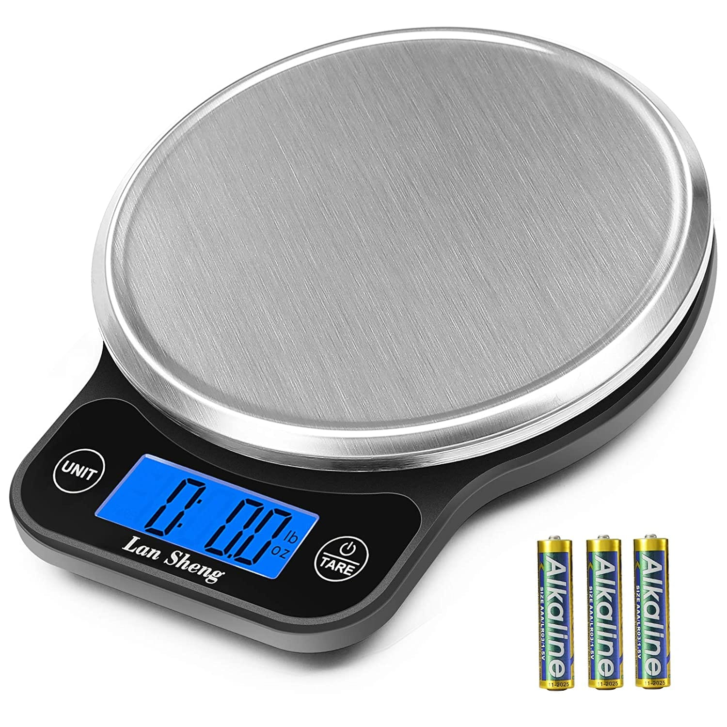 Amazon.com: Lansheng Food Scale, 13lb/6kg Digital Kitchen Scale Weight Grams and oz for Cooking, Baking, and Weight Loss $10.99