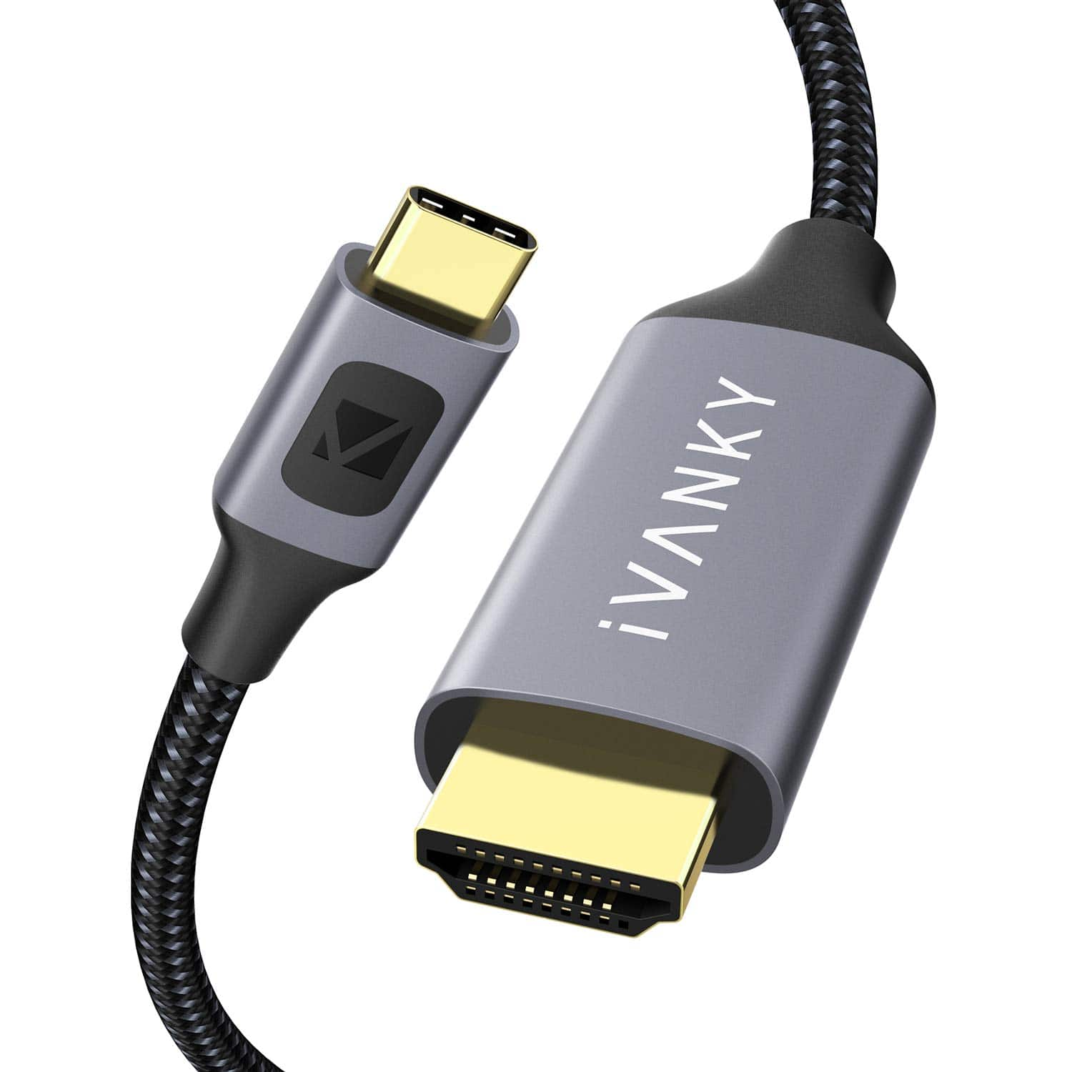iVANKY USB C to HDMI Cable, 4K@60Hz Nylon Braided Cable, $7.99