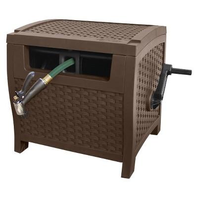 Suncast Brown Resin Wicker Hose Hideaway (Outdoor Garden Hose Reel). $14.98  YMMV