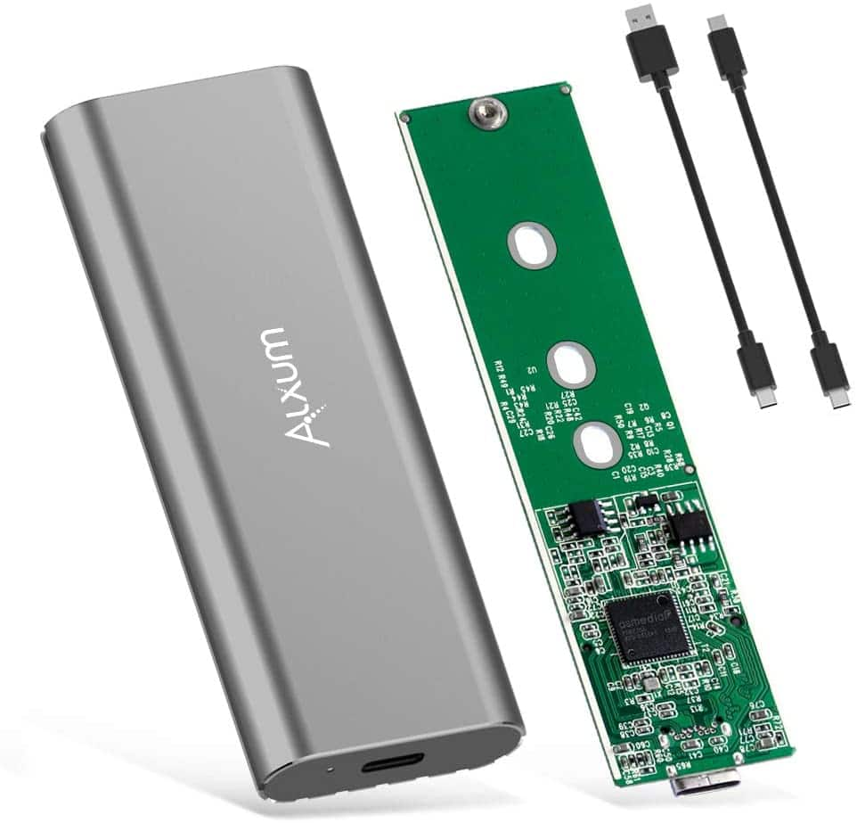 Alxum M.2 NVME SSD Enclosure Aluminum Alloy $19.98 at Amazon after coupon