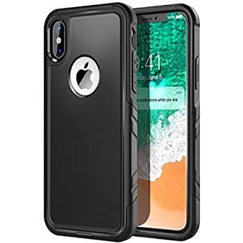 Comsoon iPhone X Case, Heavy Duty Protection Shock Absorption, Dual Layer Design Hybrid Soft TPU Cover & Hard Outer PC Shell $4.49 AC + FS w/ Prime