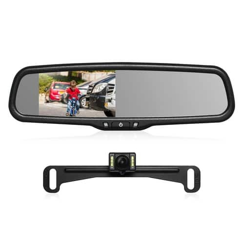 AUTO-VOX Backup Camera Kit with OEM Car Rearview Mirror Monitor $104.99 AC + Free Shipping @ Amazon